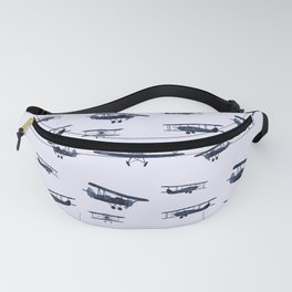 Retro airplanes #2 || watercolor Fanny Pack