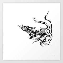 Dragon — Alternative t-shirt style (small image) Art Print