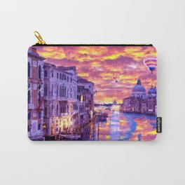 Colorful Abstract Painting of Venice Carry-All Pouch