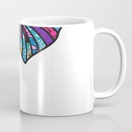 Pink Pastel Afro Print Elephant Coffee Mug