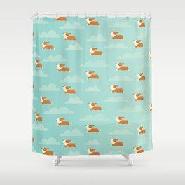 Angel Corgi Shower Curtain