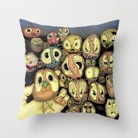 potato Throw Pillows featuring Potato animals by Johan Malm