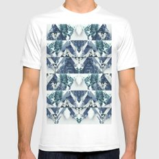 Forest Reflections MEDIUM White Mens Fitted Tee