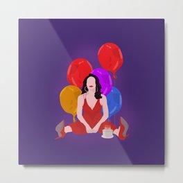 Bobbie And Balloons - Company Musical Metal Print