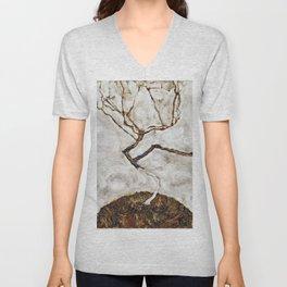 Egon Schiele - Small Tree In Late Autumn Unisex V-Neck