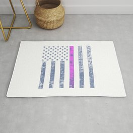 THIN PINK LINE Rug