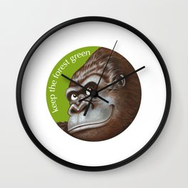 Keep the Forest Green_02 Wall Clock