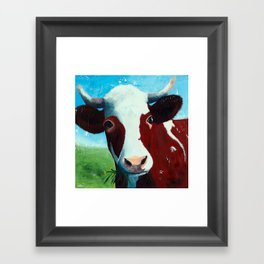 Animal - Daisy the Cow - by LiliFlore Framed Art Print