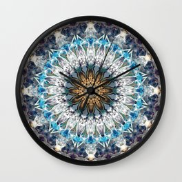 Mandala. Shades of blue Wall Clock