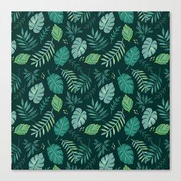 Leafy Palms Canvas Print