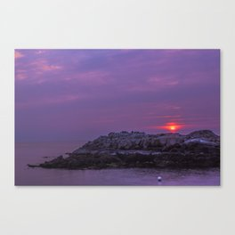High fives in the sunrise Canvas Print
