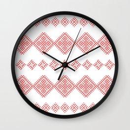 Pattern - Family Unit - Slavic symbol Wall Clock