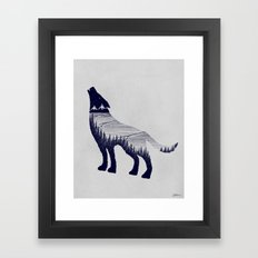 Wolf Dreams Framed Art Print