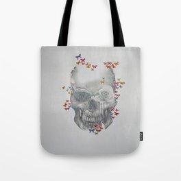 Skull & Butterflies Tote Bag