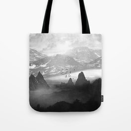 Black and White - Winter. Melody... Tote Bag
