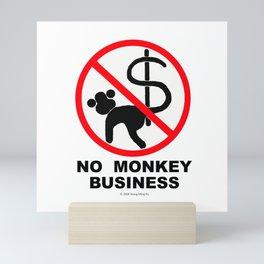No monkey business Mini Art Print