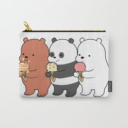 Baby Bears Eating Some Ice Cream Carry-All Pouch