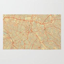 Sao Paulo Map Retro Rug