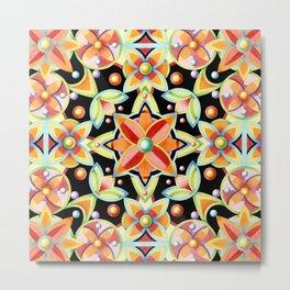 Suzani Textile Pattern Metal Print