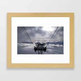 On top of the mountain Framed Art Print
