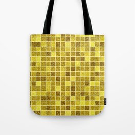 Gold glitter mosaic, geometric gold sparkle abstract pattern Tote Bag
