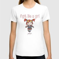 borderlands T-shirts featuring Fight Like a Girl - Borderlands 2 ~ Gaige by ~ isa ~