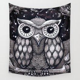 Owl II Wall Tapestry