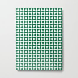 White and Cadmium Green Diamonds Metal Print
