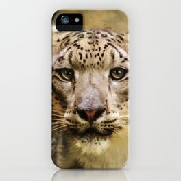 Hope For Tomorrow - Snow Leopard Art iPhone Case