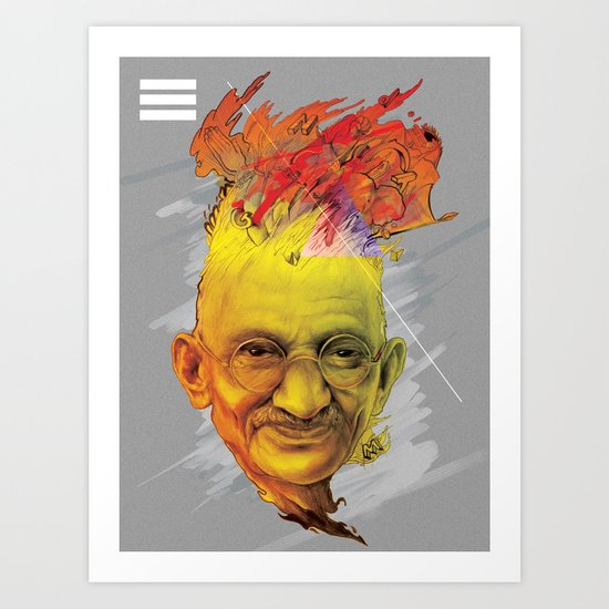 Mahatma Art Print
