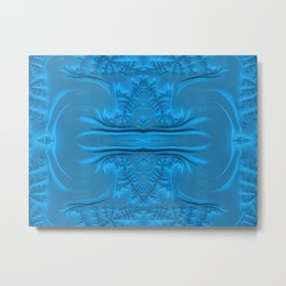 Frosty Ice on the Lake Waters Fractal Abstract Metal Print
