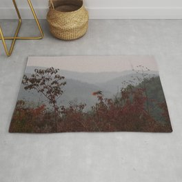bird with red tail Rug