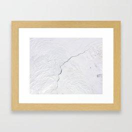 Open water lead above Canada, Arctic Ocean Framed Art Print