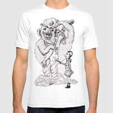 Box-O-Trolls White Mens Fitted Tee MEDIUM
