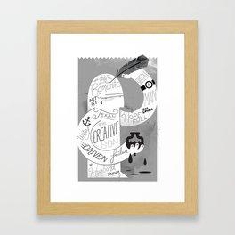 Penmanship Framed Art Print