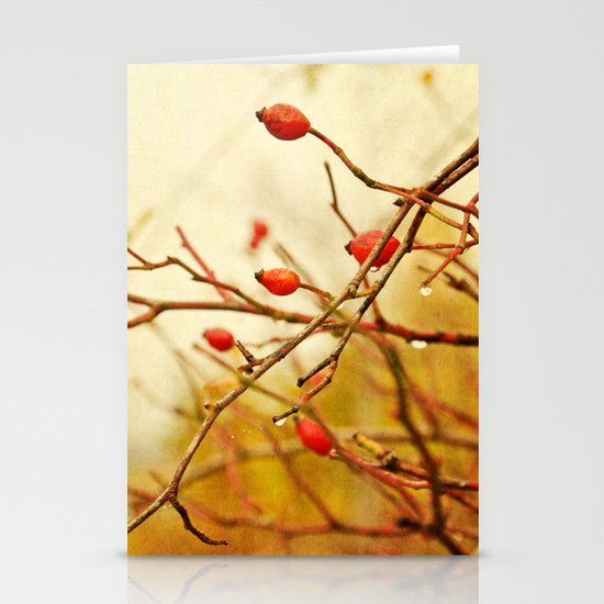 vintage rosehips Stationery Cards