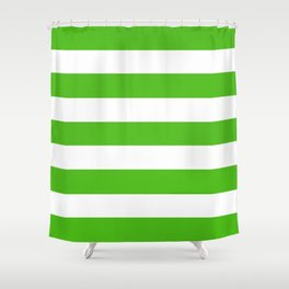 Kelly Green Shower Curtains