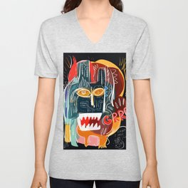 Street art I'm not scared Unisex V-Neck
