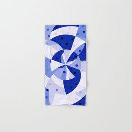 Polka Dots Blue Geometric Design Hand & Bath Towel