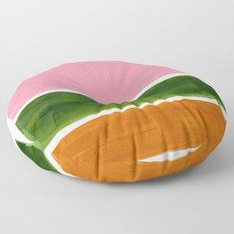 Colorful Minimalist Mid Century Modern Shapes Pink Olive Green Yellow Ochre Rothko Minimalist Square Floor Pillow