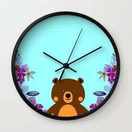 Cute Baby Bear Wall Clock