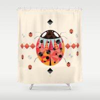 ladybug Shower Curtains featuring Ladybug by Iceenoodle