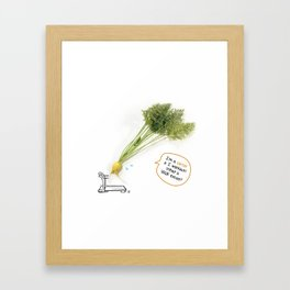 I'm A Carrot & I Workout! Framed Art Print