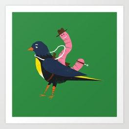 Yeehaa Birdy Art Print