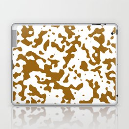 Spots - White and Golden Brown Laptop & iPad Skin
