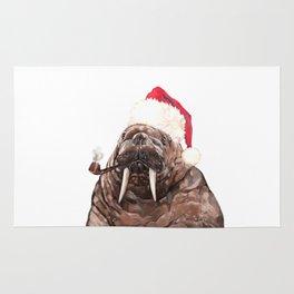 Christmas Daddy Walrus Rug