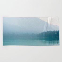 Emerald Lake Mist Beach Towel