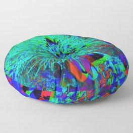 """Kiwi Lifestyle"" - Pohutukawa NZ Blue Bloom- Pop ART Floor Pillow"