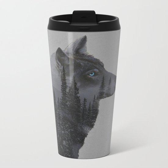 Winter Wolf Metal Travel Mug