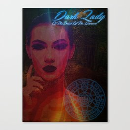 Dark Lady of the Forest of the Damned Canvas Print